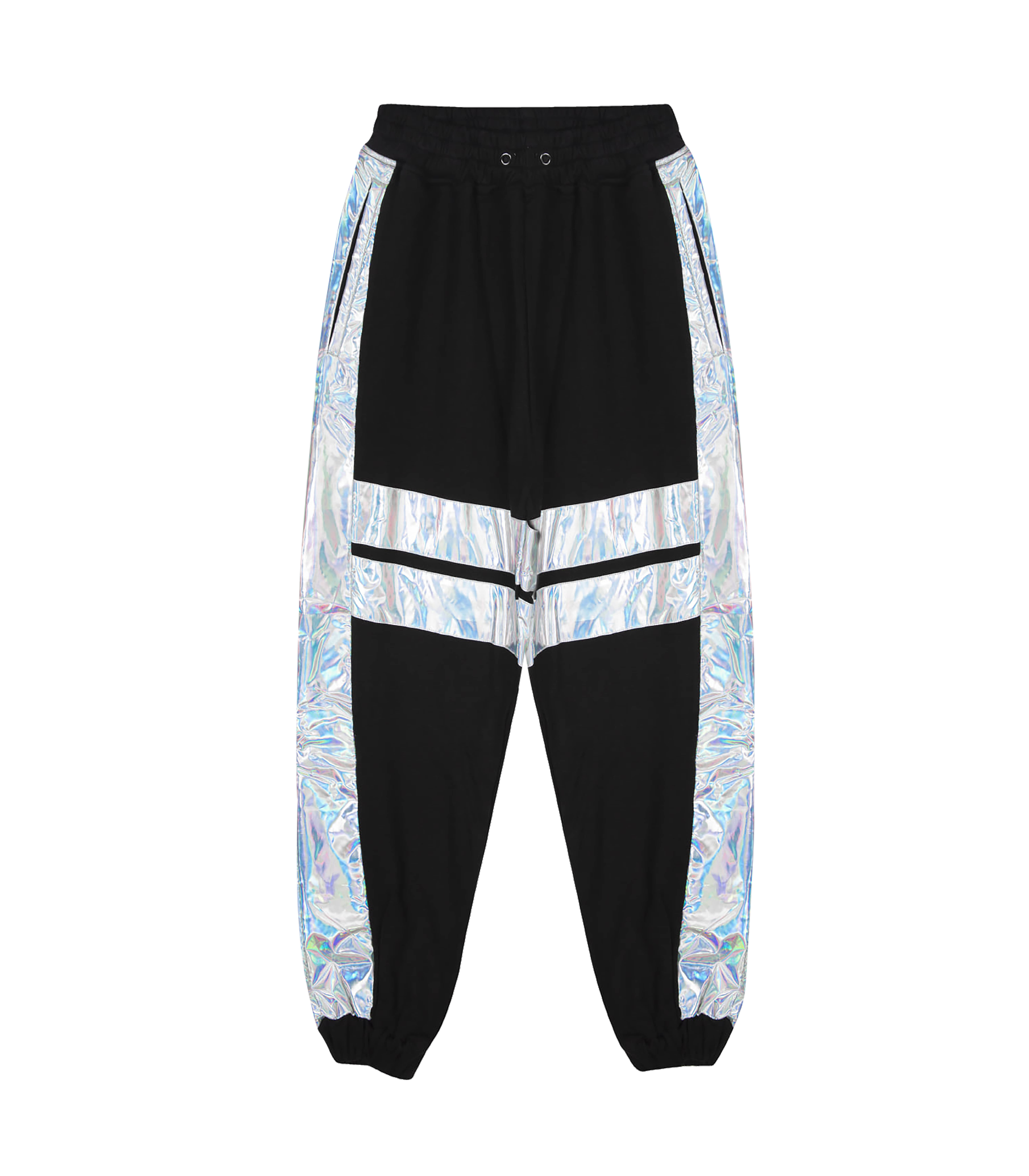 HOLOGRAM LINE JOGGER PANTS (BLACK)