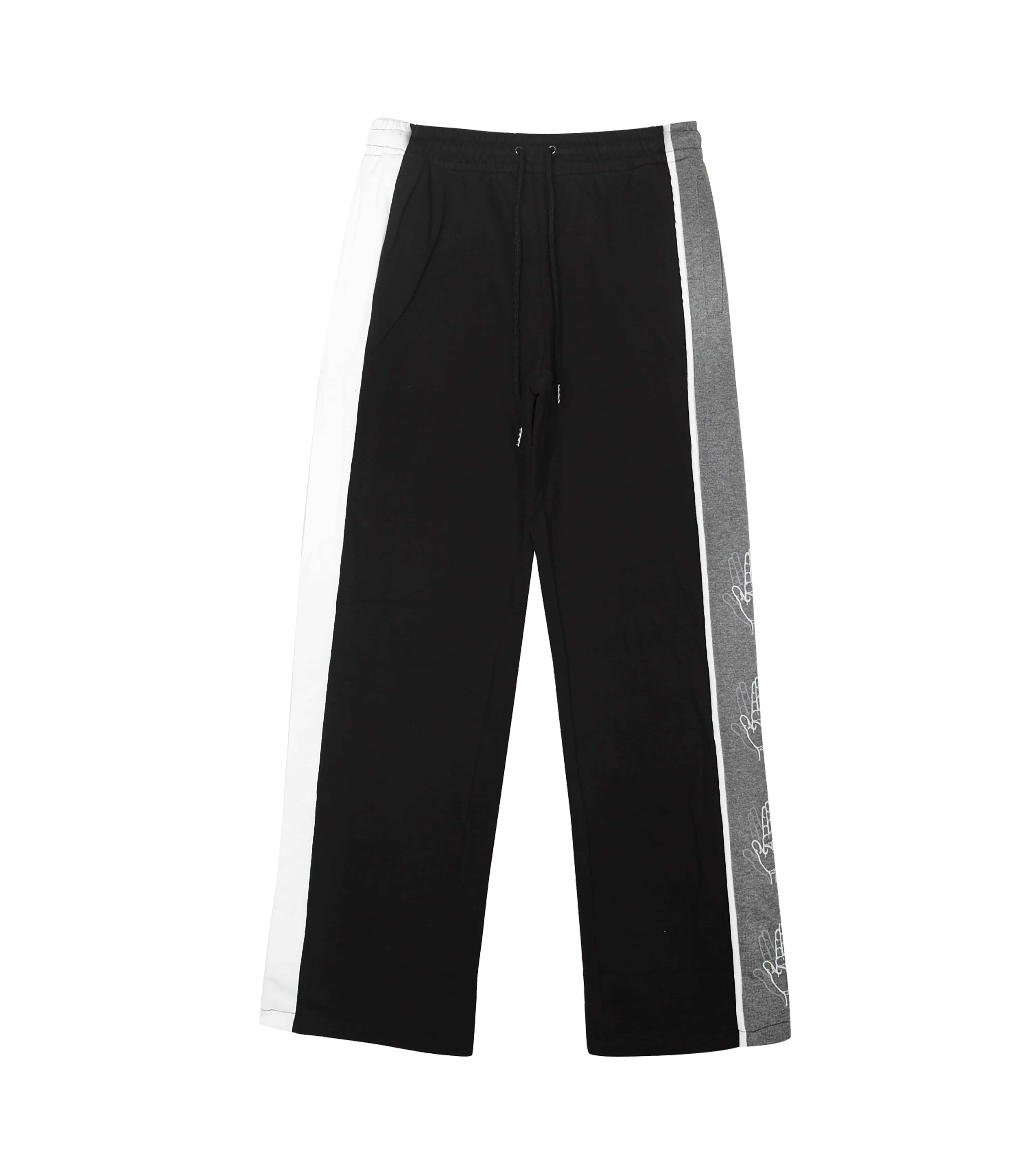 SIDE COLOR SCHEME SWEAT PANTS (MELANGE&BLACK)