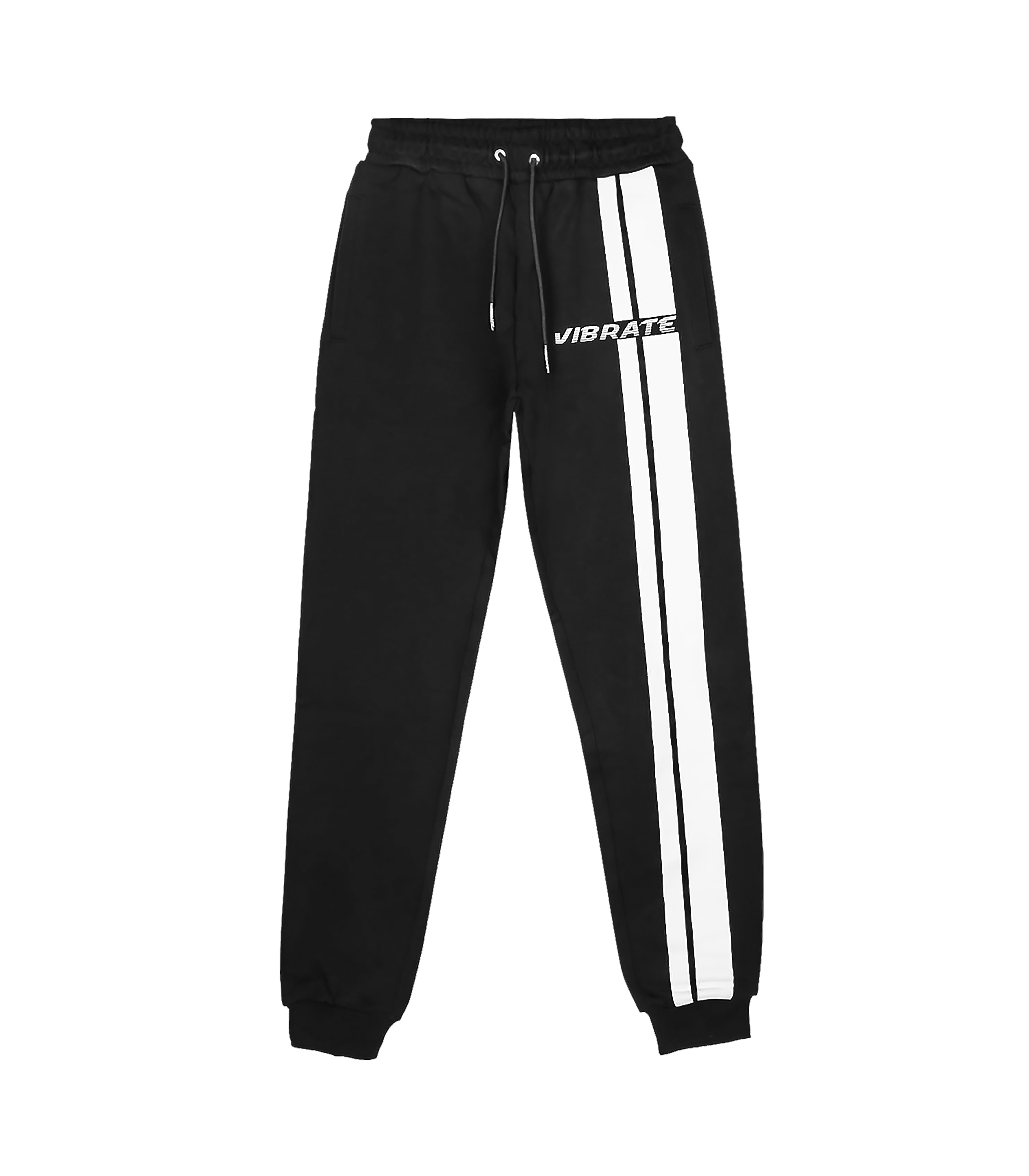 VIBRATE - TRAFFIC ROAD LOGO JOGGER PANTS (BLACK)