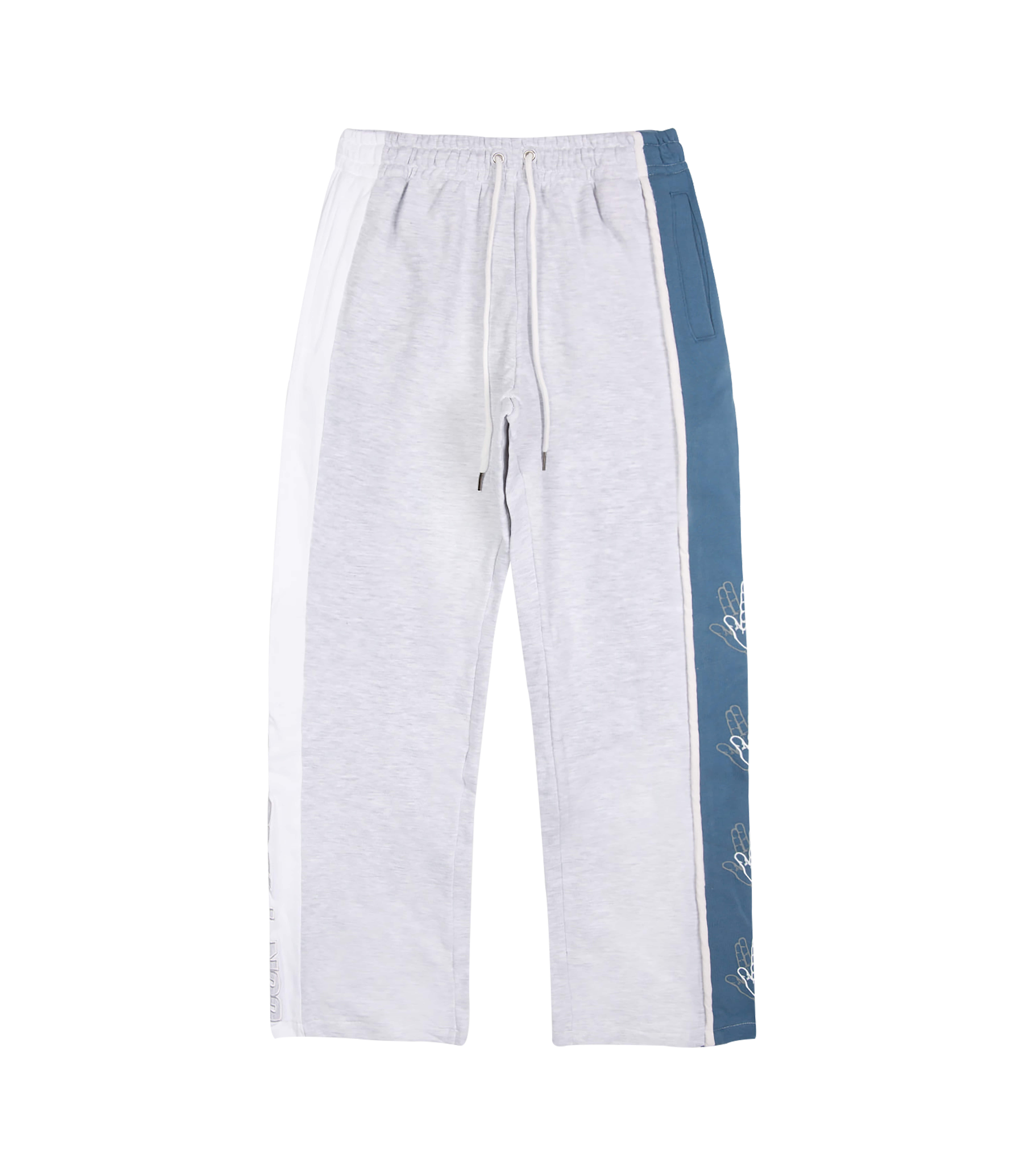 SIDE COLOR SCHEME SWEAT PANTS (MELANGE&BLUE)