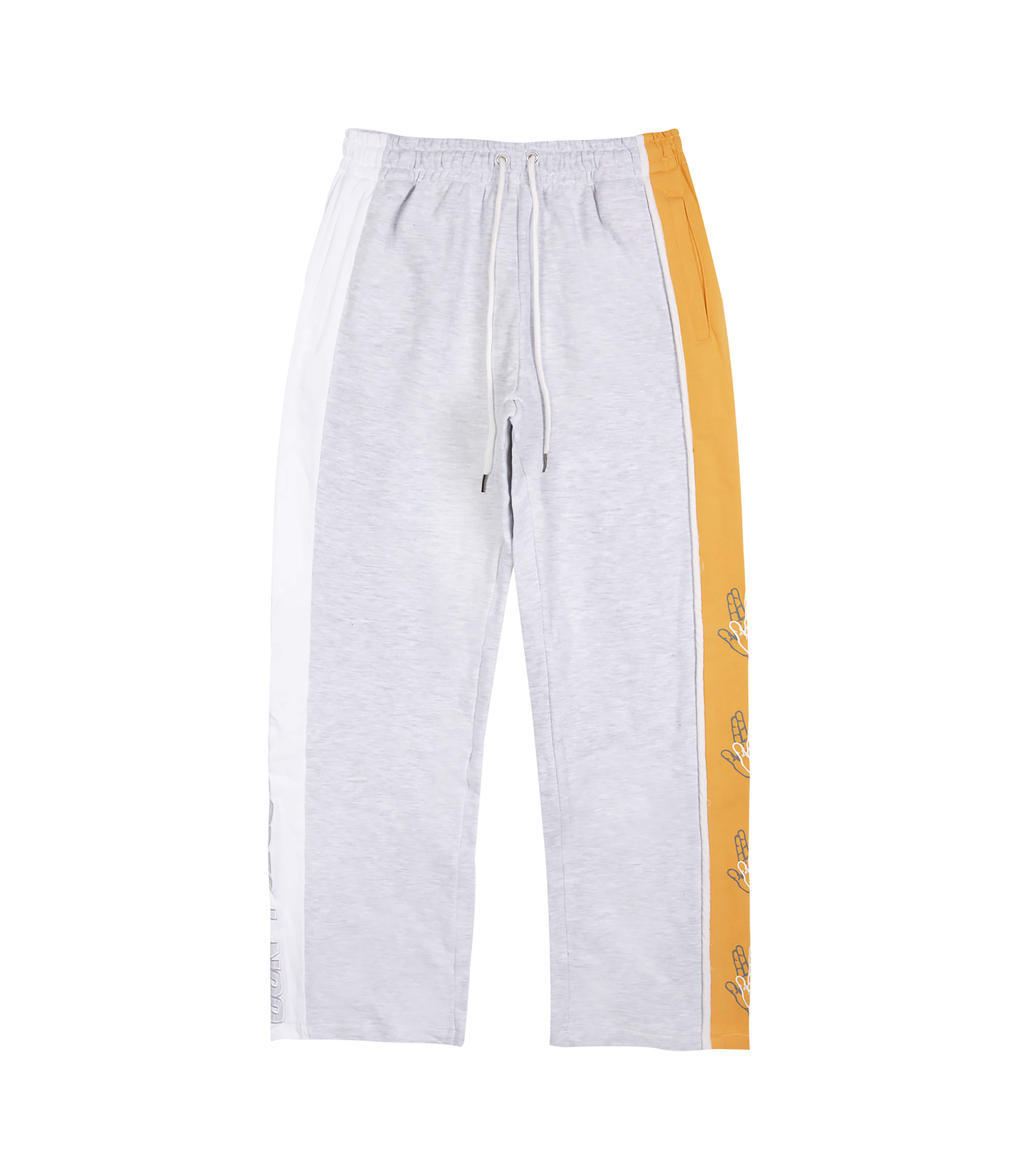 SIDE COLOR SCHEME SWEAT PANTS (MELANGE&MUSTARD)