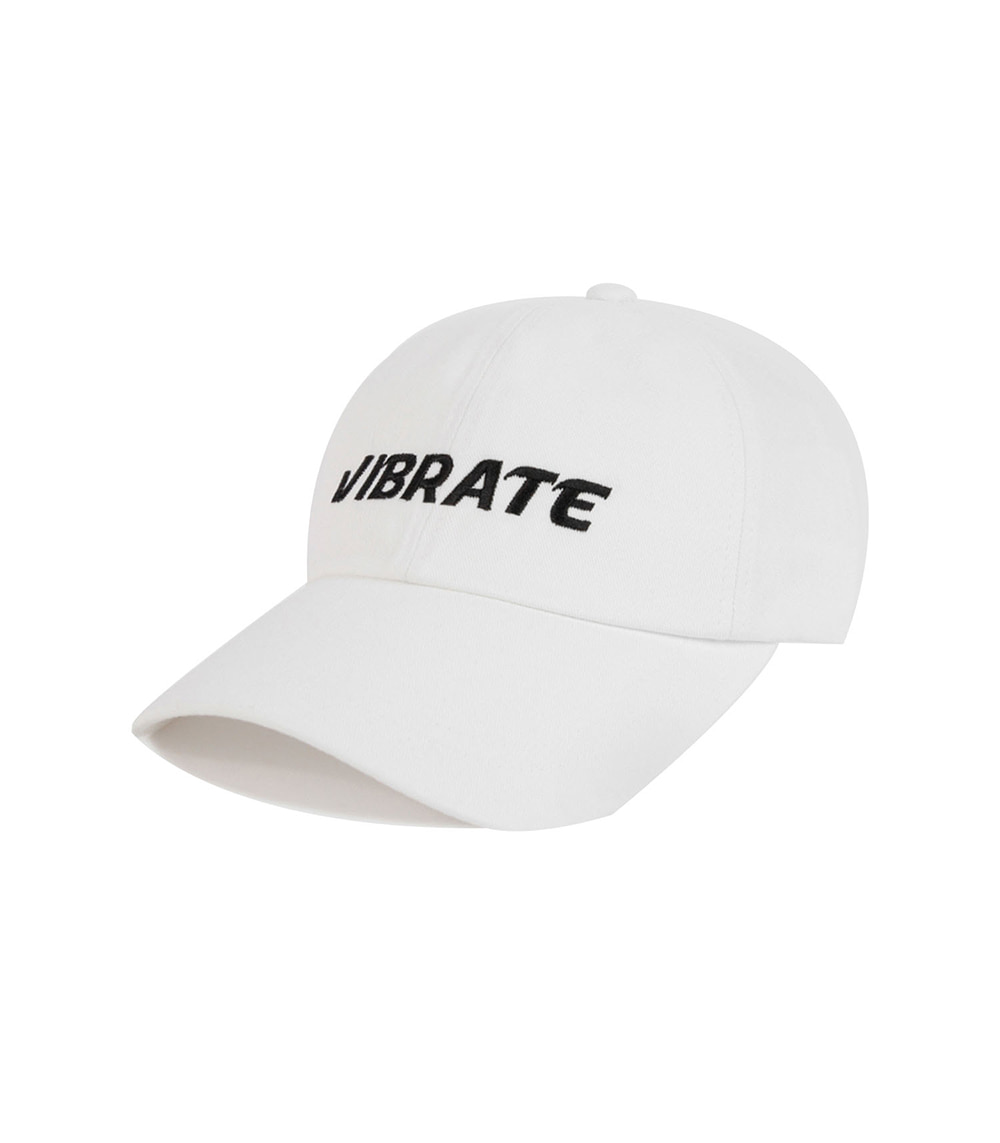 VIBRATE - SIGNATURE NAME BALL CAP (white)