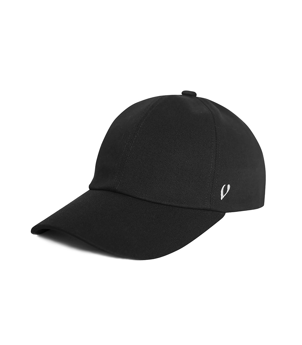 BLACK LINE - COTTON BALL CAP (BLACK)