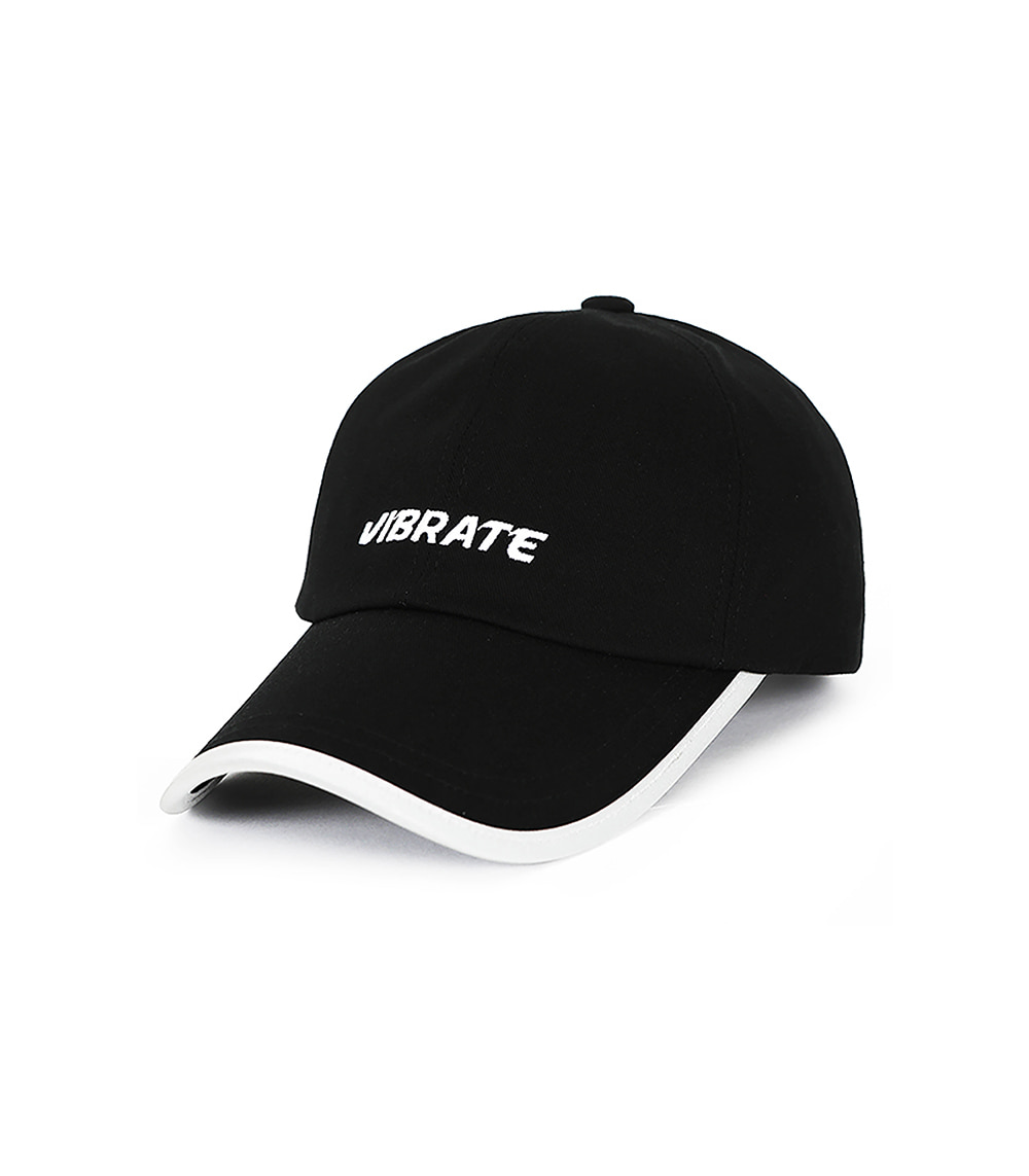 VIBRATE - SCOTCH PATCH BASIC LOGO BALL CAP (BLACK)
