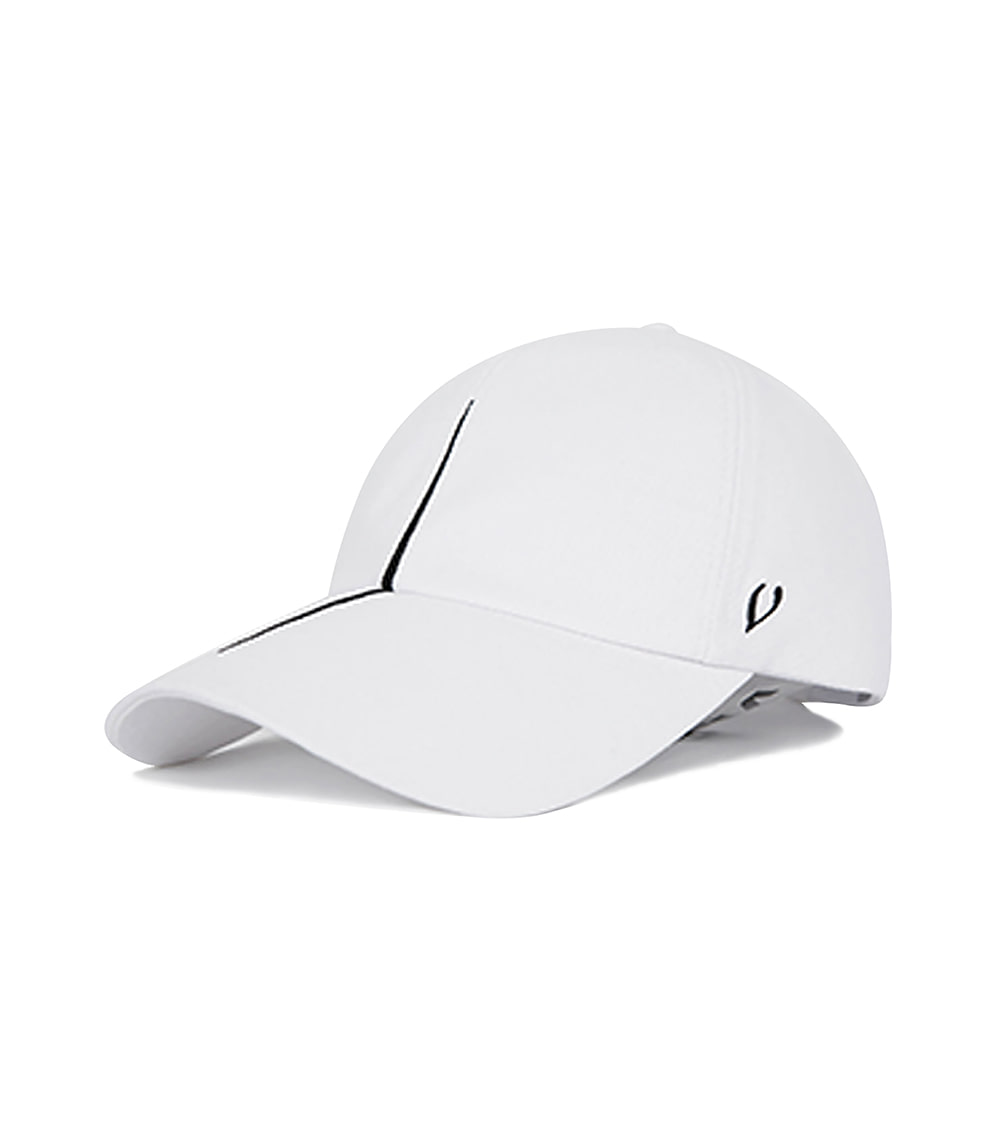 BLACK LINE - VERTICAL DIVISION BALL CAP (WHITE)