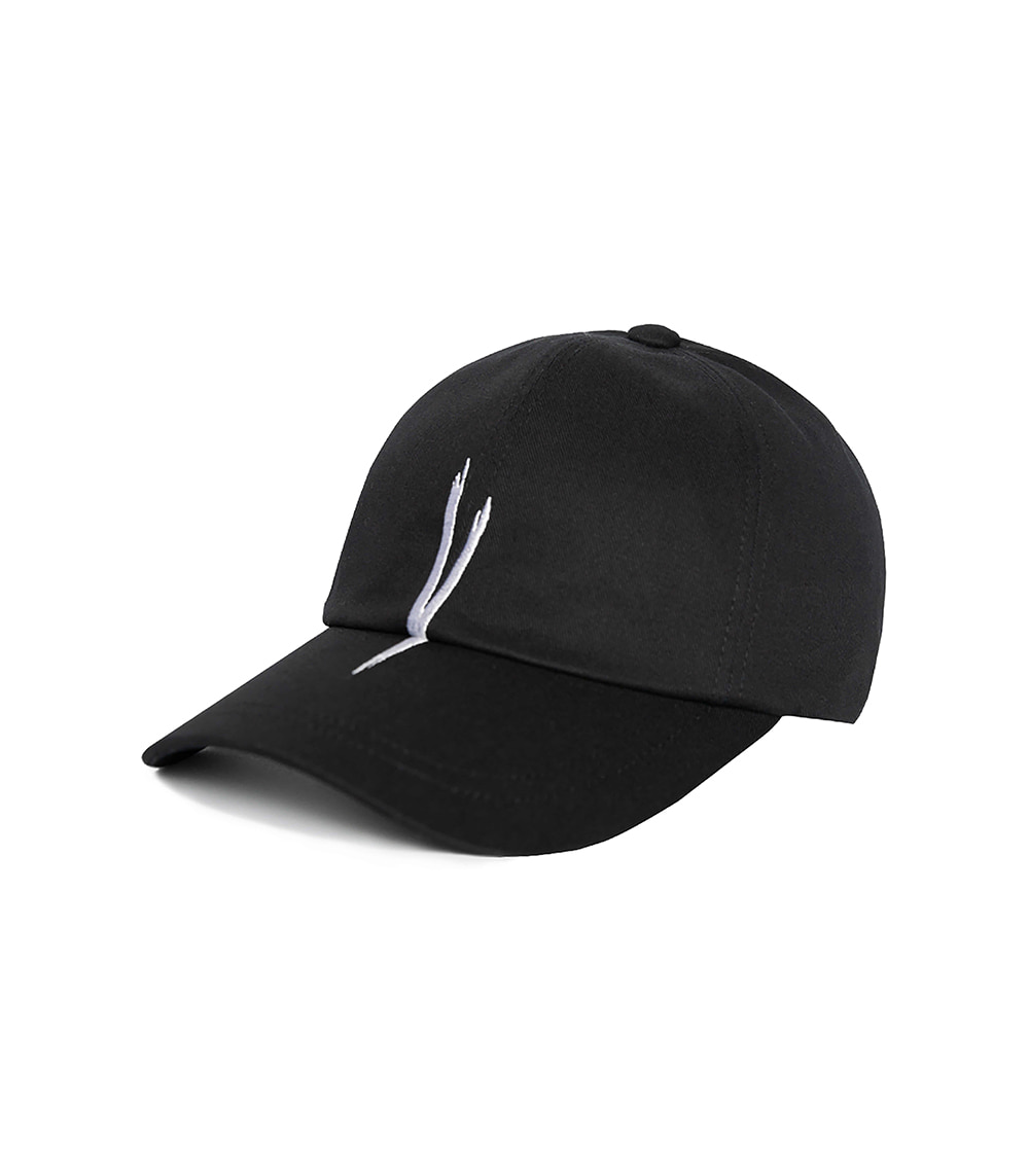 V CHECKING BALL CAP (BLACK)