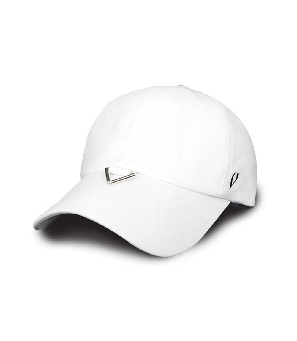 BLACK LINE - TRIANGLE VISOR BALL CAP (WHITE)