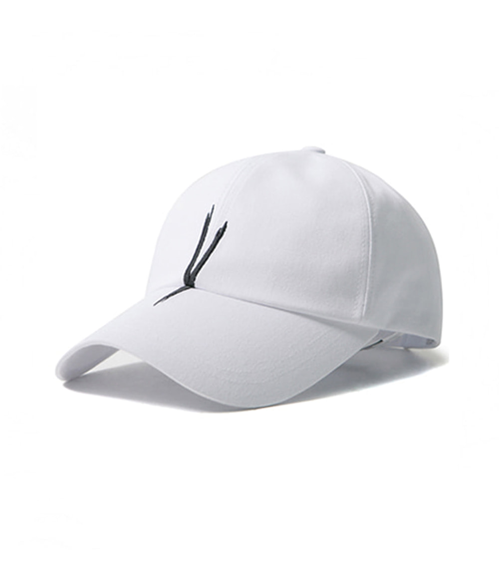 V CHECKING BALL CAP (white)