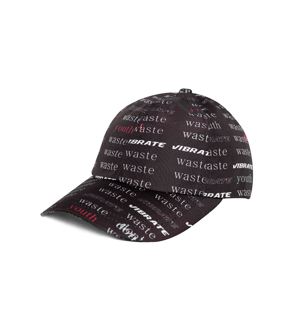 D.W.Y.Y PATTERN BALL CAP (BLACK)