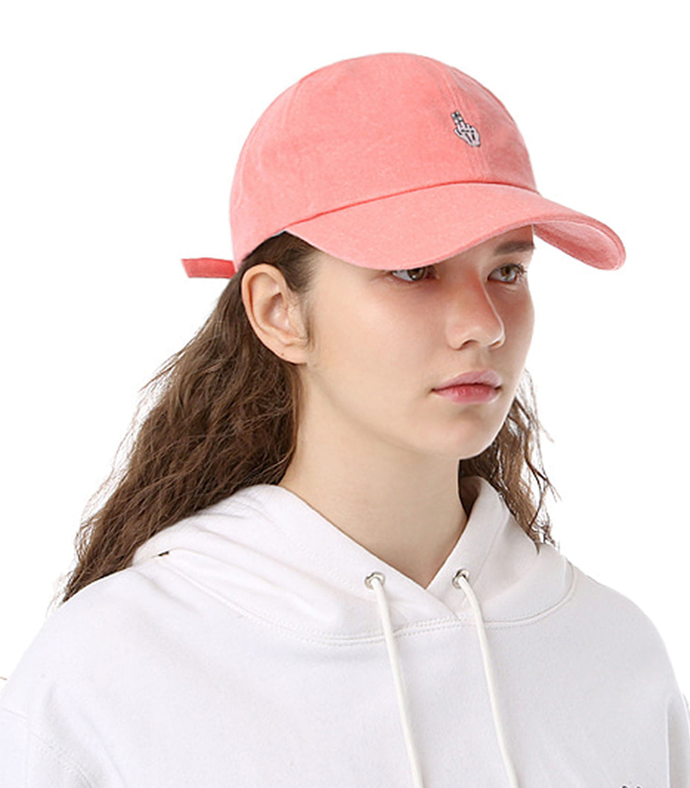 FINGER BALL CAP (WASHING PINK)