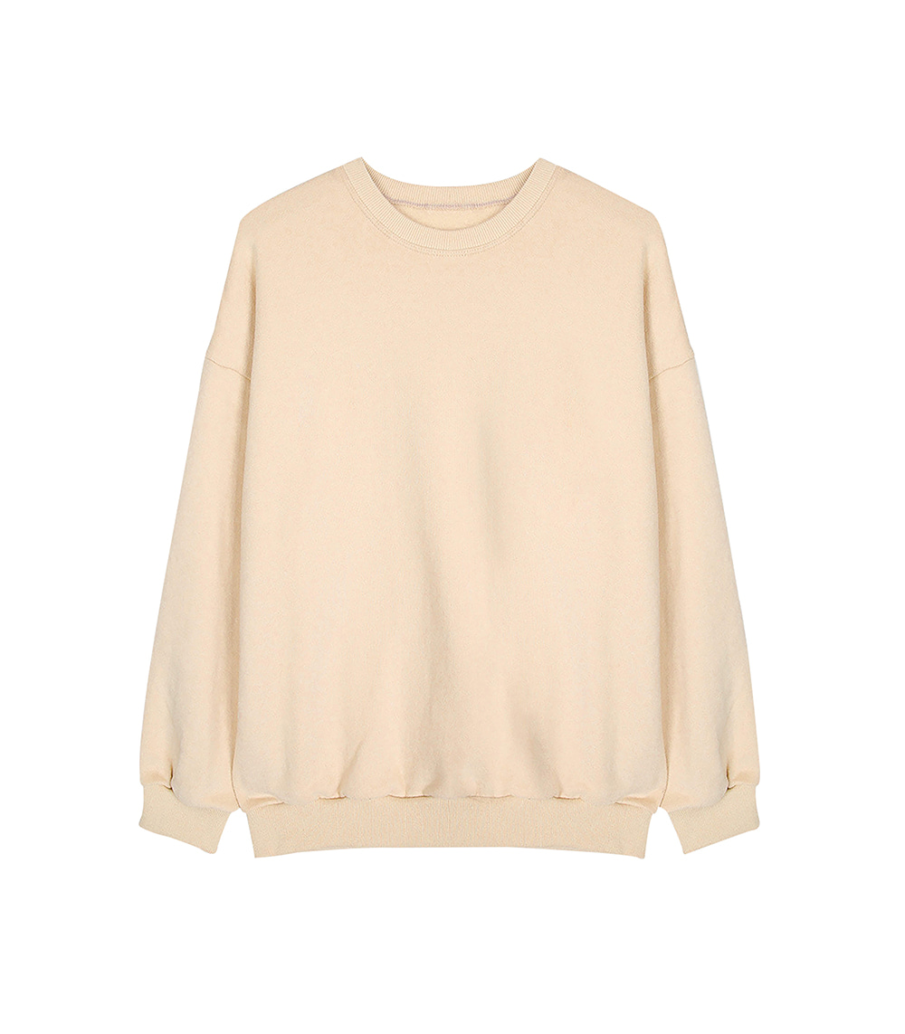 DAILY AND EASY BASIC SWEATSHIRTS (BEIGE)
