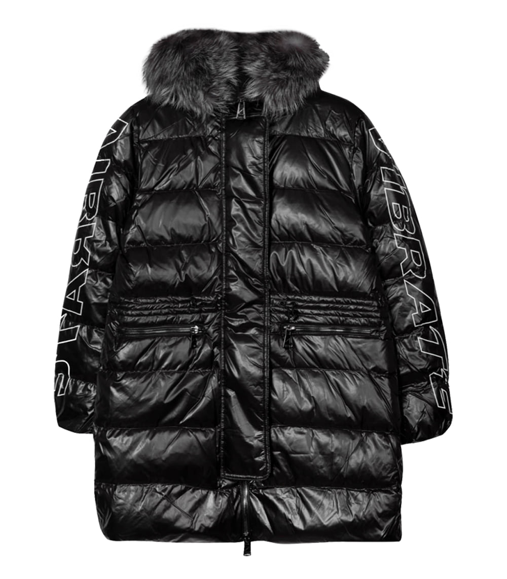 [한예슬패딩][WOMAN]GLOSS HOODED DUCKDOWN JACKET (BLACK)
