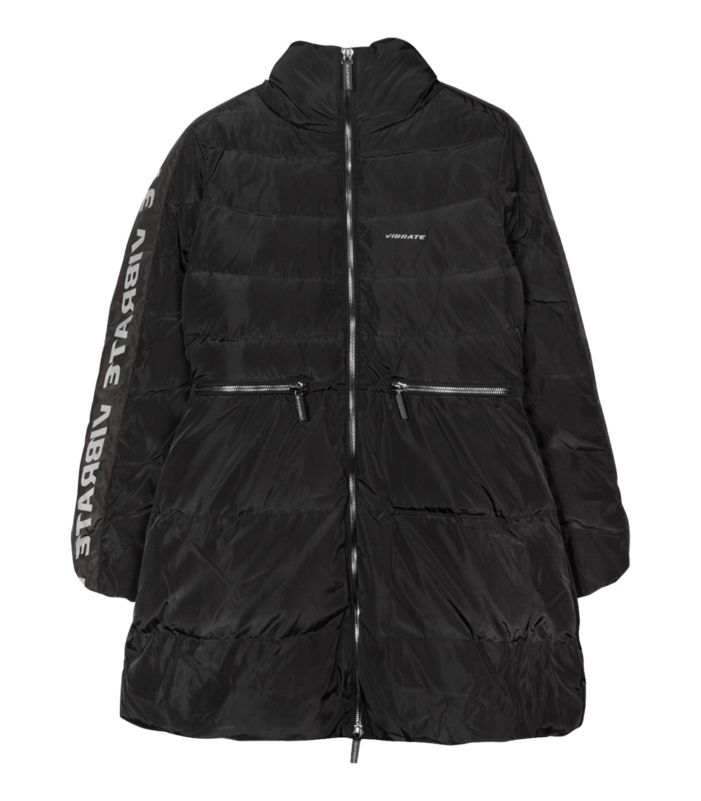 [WOMAN]SCOTCH LINE DUCKDOWN JACKET (BLACK)