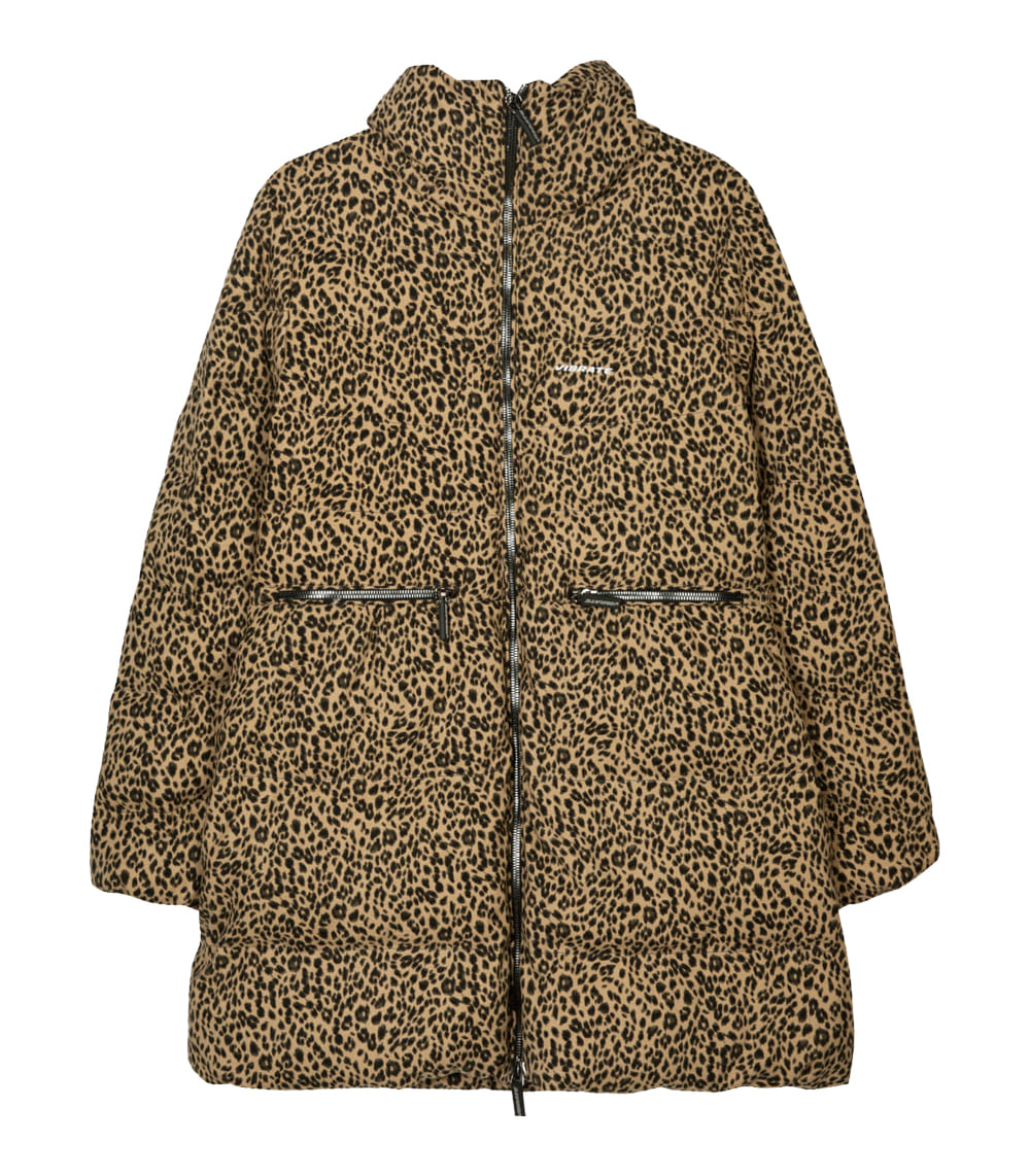 [WOMAN]LEOPARD PRINT DUCKDOWN JACKET (LEOPARD)