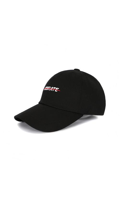 9ed16a4231062 RED CROSSLINE BALL CAP (BLACK) - vibrate